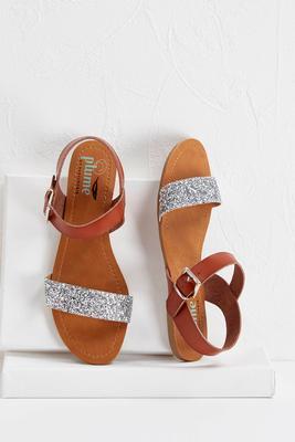 glitter strap sandals s