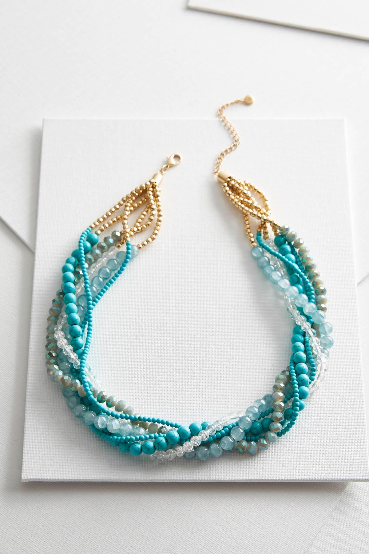 Layered Twisted Bead Necklace