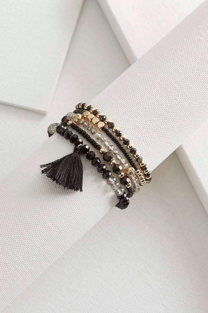 Tasseled Crystal Bracelet Set