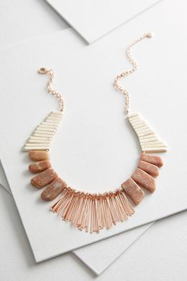 shaky semi-precious bib necklace