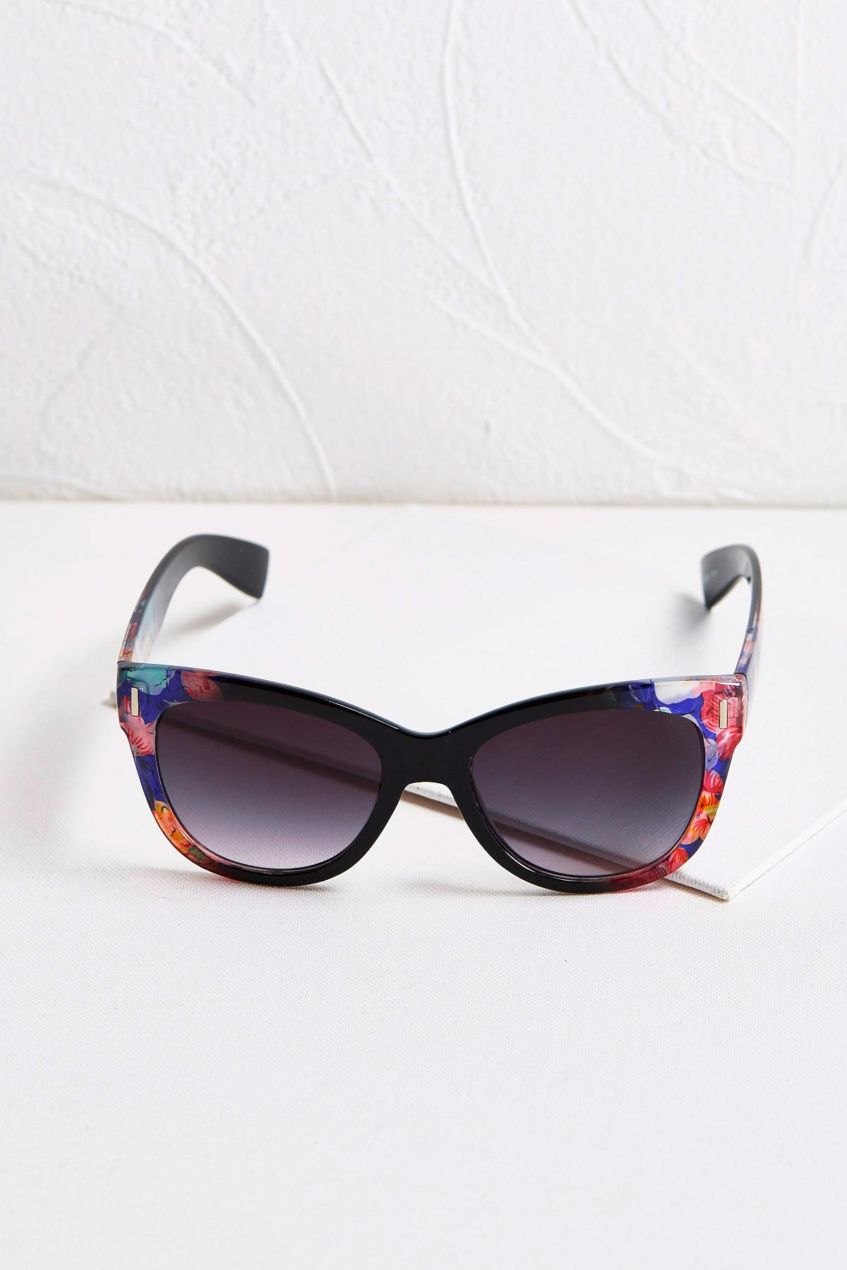 Violet Floral Sunglasses