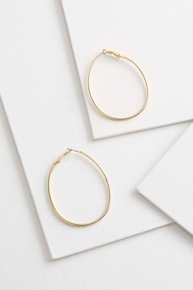 Oval Diamond Cut Hoops