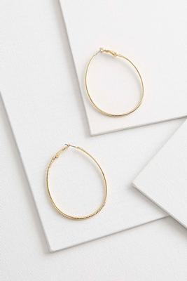 oval diamond cut hoops
