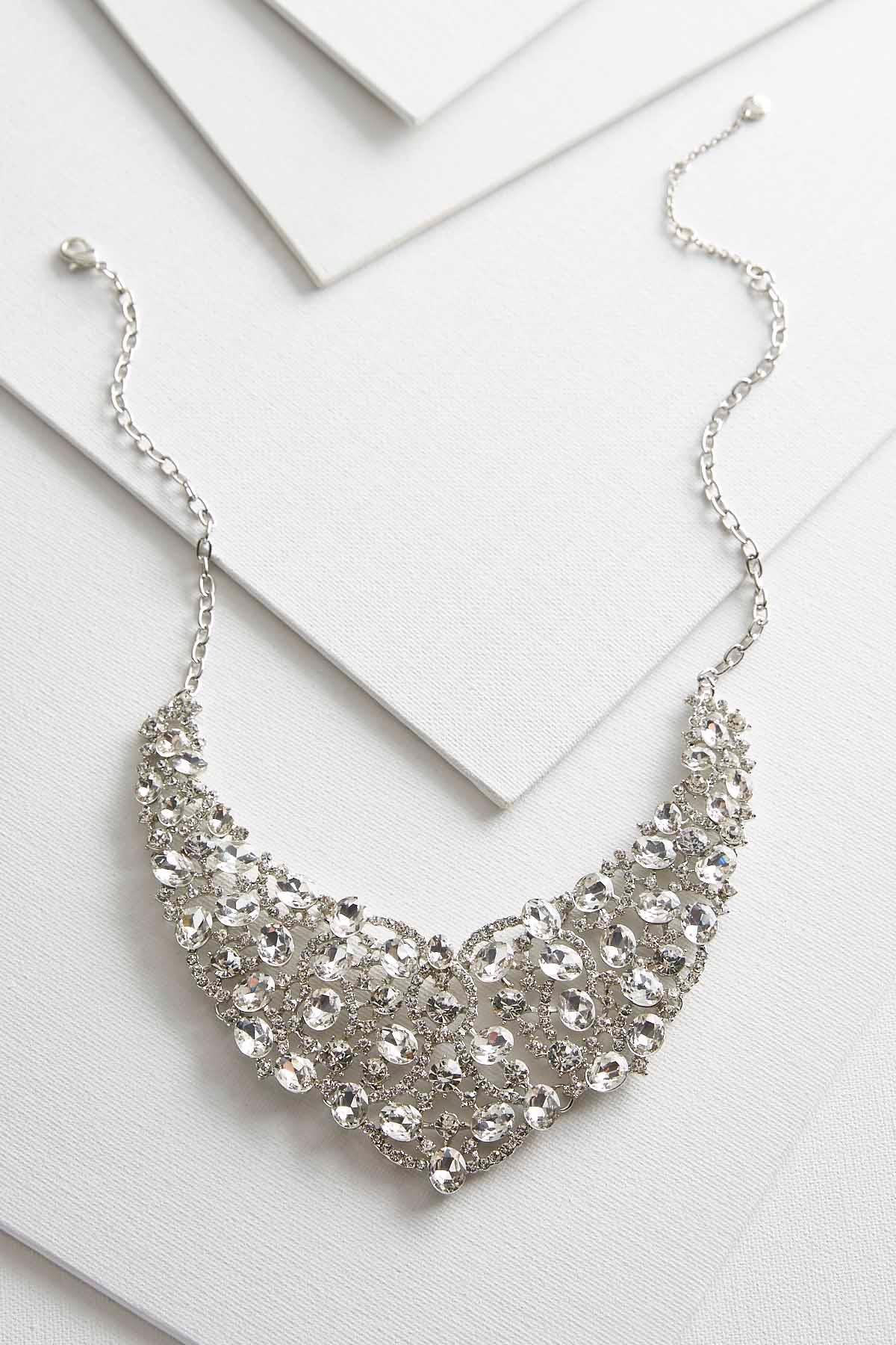 Stone Cluster Bib Necklace