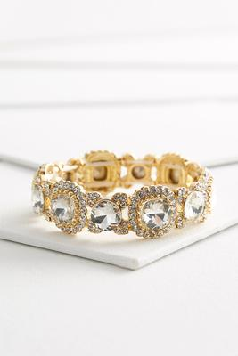 mixed rhinestone stretch bracelet
