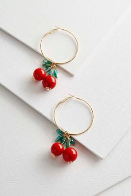 dangling cherry hoops
