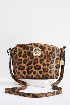 leopard medallion crossbody s