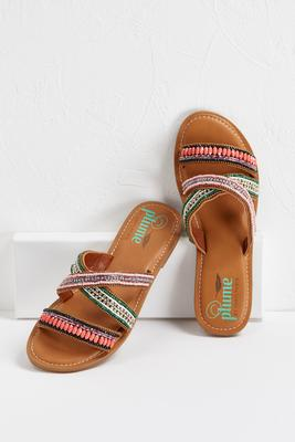 global beaded sandals