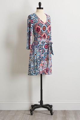 geranium wrap dress