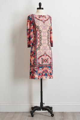 bali floral shift dress