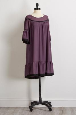 ribbon trim georgette dress