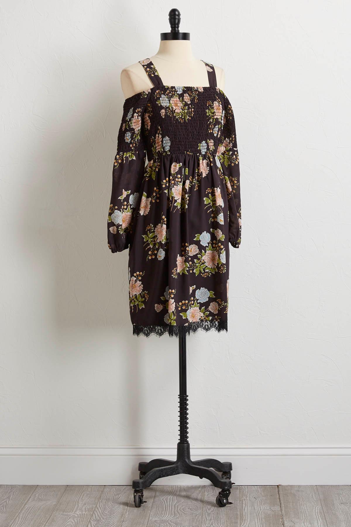 Smocked Bare Shoulder Dress