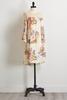 Ivory Floral Bare Shoulder Shift Dress