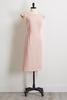 Pink Pleated Sheath Dress