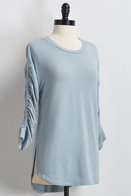 ruched sleeve tunic s