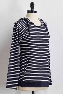 navy striped hoodie s