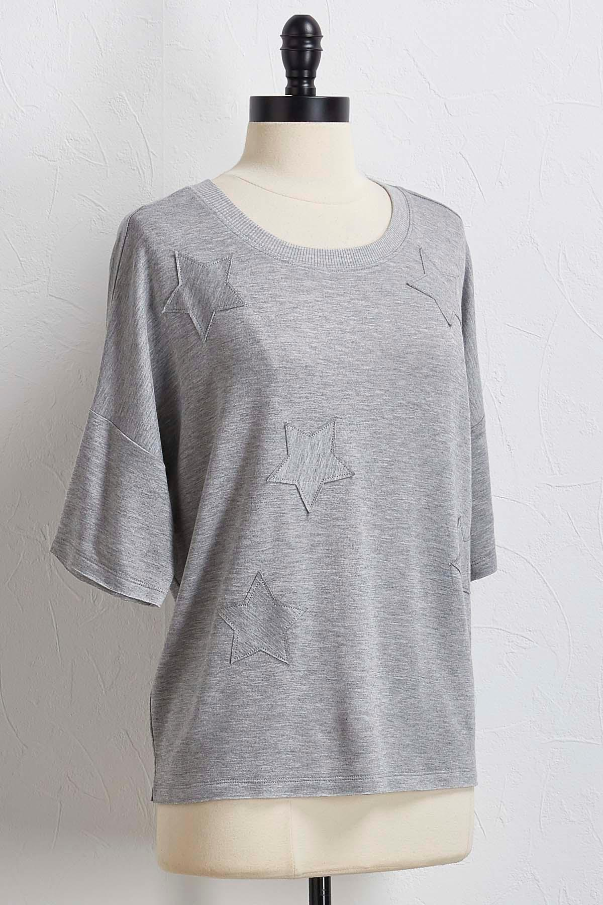 Relaxed Star Embellished Top
