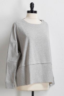 snap sleeve sweatshirt