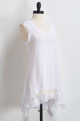embellished crochet lace tunic
