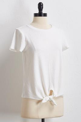 knotted waist skimmer top