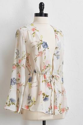 floral drawstring top