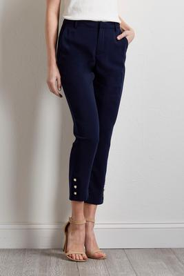embellished cropped skinny pants