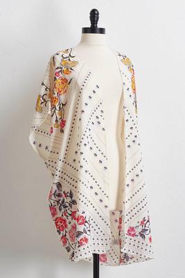 floral patchwork kimono s