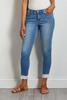 Frayed Hem Cropped Jeans