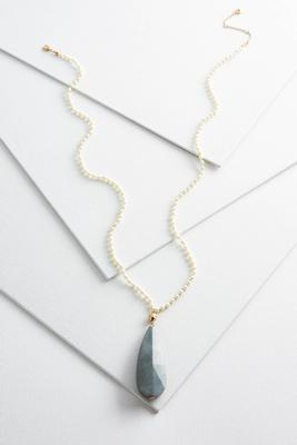 pearl beaded pendant necklace
