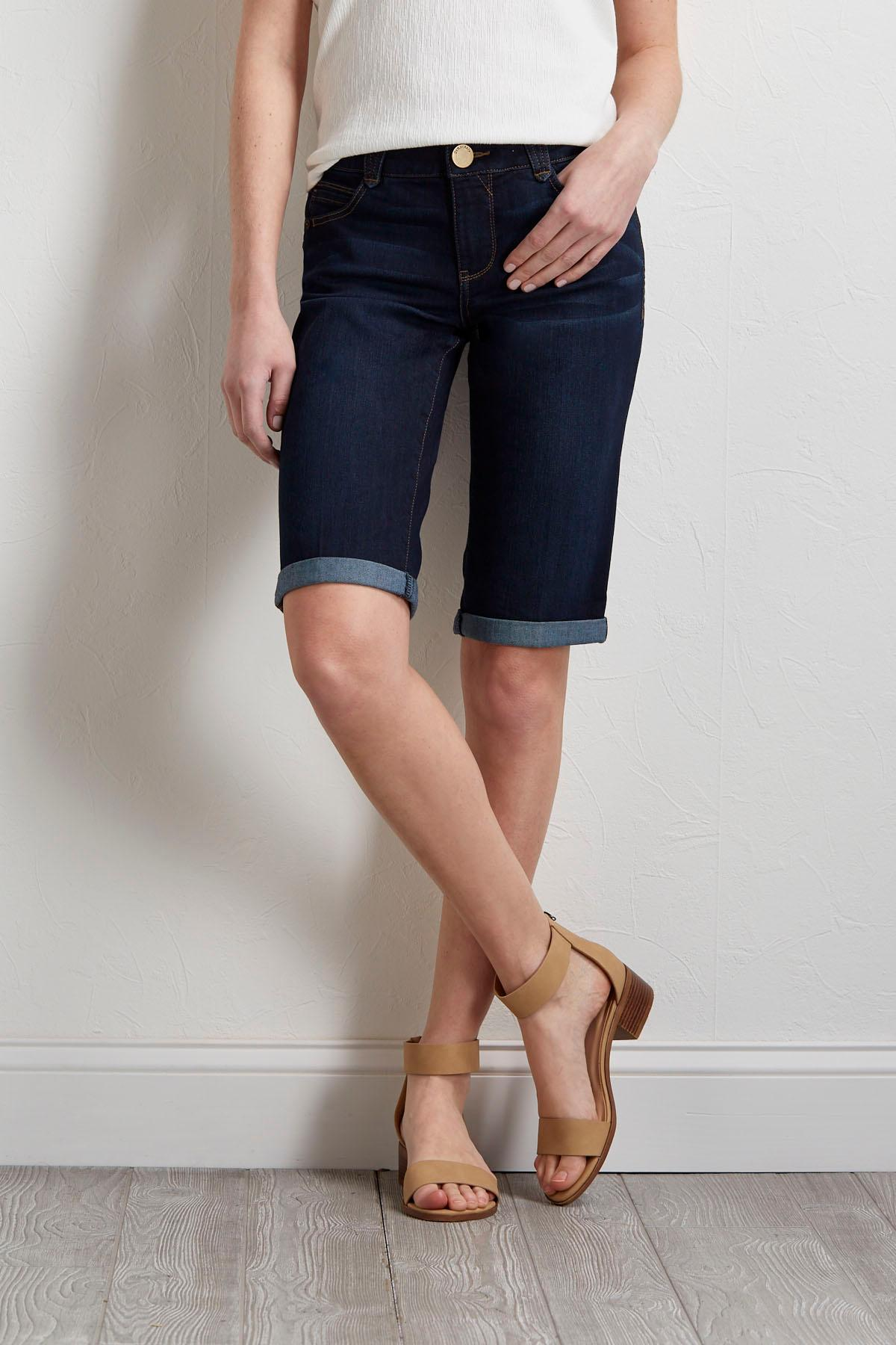 Denim Bermuda Shorts
