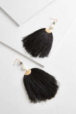 fan tassel statement earrings s