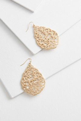 large filigree dangle earrings