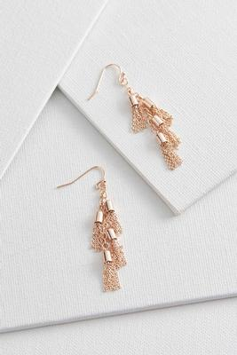 dangling chain tassel earrings