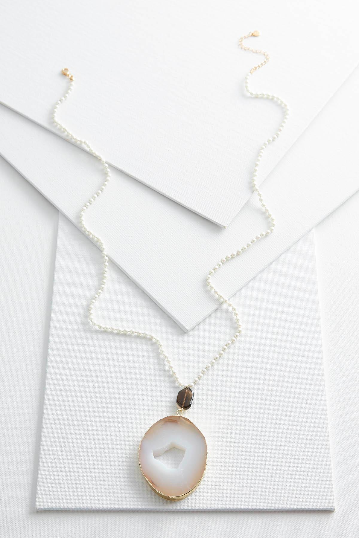 Versona pearl agate pendant necklace pearl agate pendant necklace item 42743328 aloadofball Choice Image