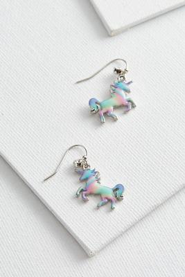 unicorn dangle earrings