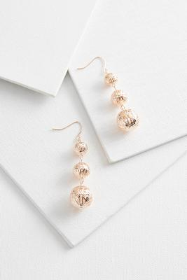 filigree linear ball earrings