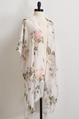 embellished rose garden kimono