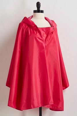 solid pink rain poncho