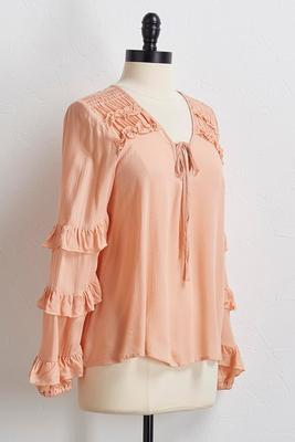 ruffled poet top s