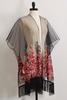 Sheer Embroidered Mesh Kimono