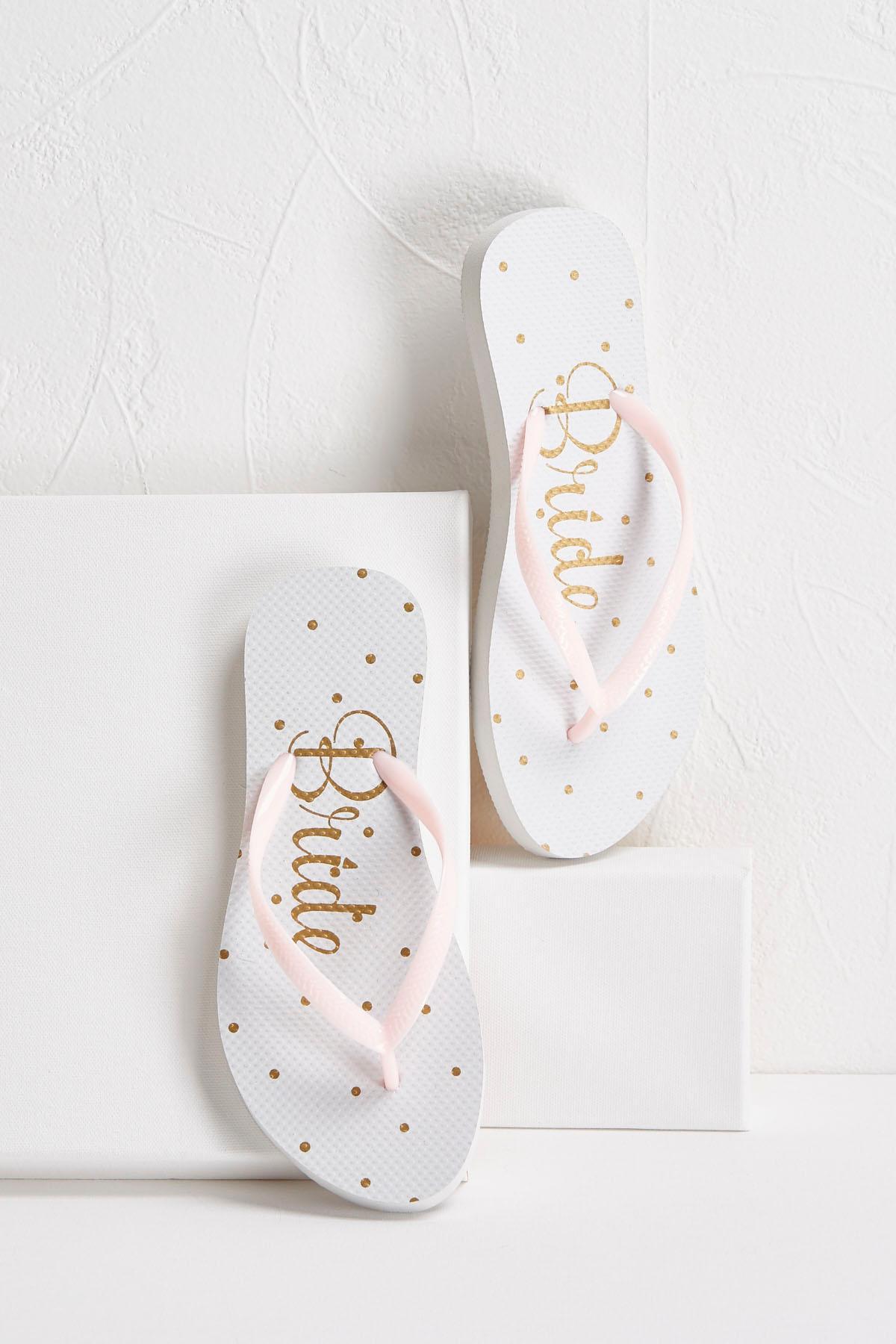 Dotted Bride Flip- Flops