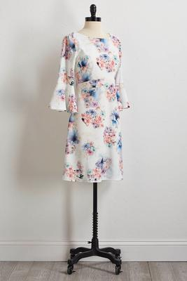 bloom bliss fit and flare dress