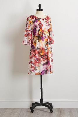 watercolor floral dress