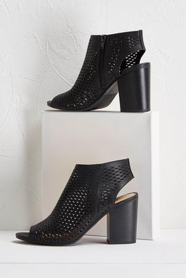 zippered perforated shooties