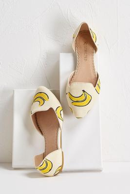 banana canvas flats