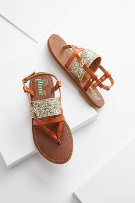 glitter strap slingback sandals