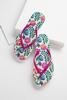 Pink Floral Flip- Flops
