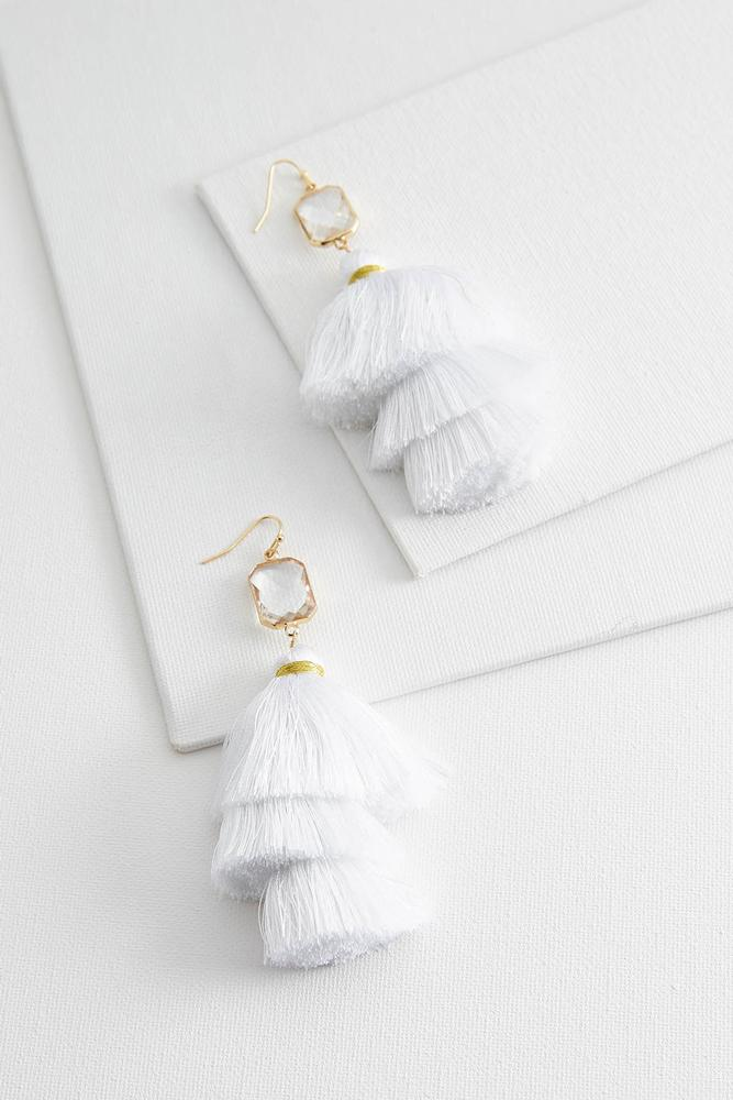 Crystal Ombre Tassel Earrings