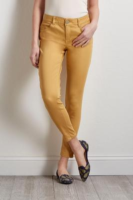 gold twill pants