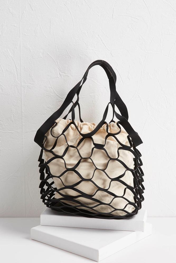 Faux Suede Market Bag